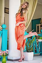 Атласное платье в пол | Federica sk, фото 3