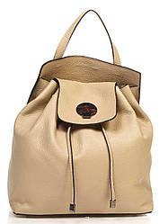 Кожаная сумка Genuine Leather Рюкзак Genuine Leather 6202_taupe Кожаный Таупе