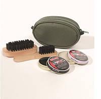 Компактный набор для ухода за обувью Mil Tec оливковый 12936000