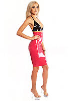 Латексная юбка до колен с высокой талией Latex Pencil Skirt High Waist