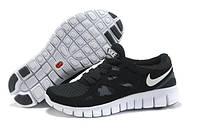 Кроссовки женские/мужские беговые Найк Nike Free Run 2.0 черно-белые