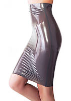 Латексная юбка колен с высокой талией Latex Pencil Skirt High Waist