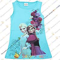 Летний сарафан туника Frozen для девочек от 4 до 8 лет (3438-3)