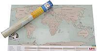 Настенная Скретч карта мира Scratch World Map на русском языке