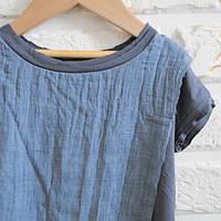 Серая футболка с марлевкой под джинс. Унисекс. Размер: 98 см