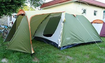 Палатка Abarqs Vigo-3,тамбур,зелено-золотая, фото 3