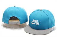 Кепка с прямым козырьком Nike SB Snapback blue-grey