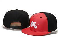 Кепка с прямым козырьком Nike SB Snapback black-red