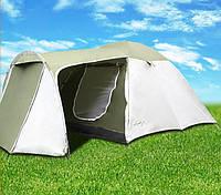 Палатка Abarqs Vigo-4,тамбур,зелено-серебряная