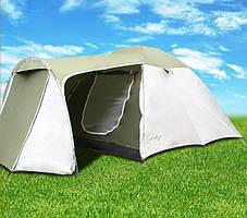Палатка Abarqs Vigo-4,тамбур,зелено-серебряная, фото 3