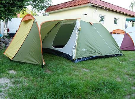 Палатка Abarqs Vigo-4,тамбур,зелено-серебряная, фото 2