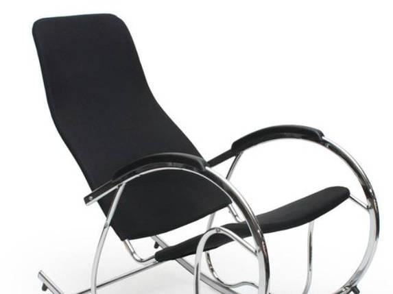 Кресло-качалка,металлическая,Ben-2, черная, фото 2