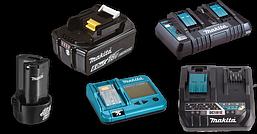 Акумулятори, зарядні пристрої та адаптери Makita