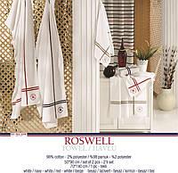 Набор полотенец U.S. Polo Assn - Roswell белый с красным (2 шт)