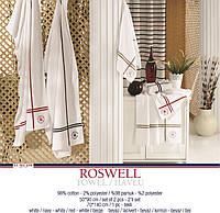 Полотенце U.S. Polo Assn - Roswell 70*140 белое c бежевым
