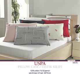 Наволочки U.S. Polo Assn - USPA 50*70 (2 шт) белые