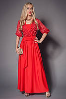 Платье гипюровое мод 440-2, размер 44-46,46-48 коралл (А.Н.Г.)