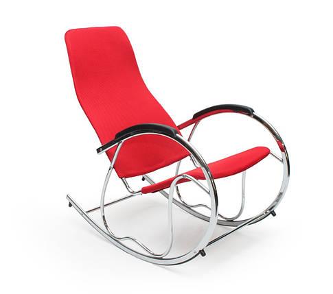 Кресло-качалка металлическая Lucaro Ben-2, красная, фото 2