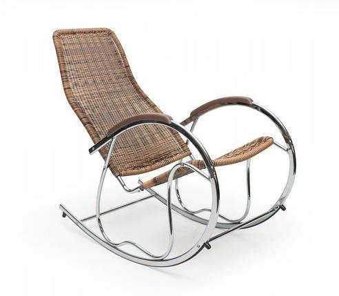 Кресло-качалка,металлическая,Ben, коричневая, фото 2