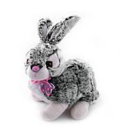 Мягкая игрушка озвученная Кролик сизый 051-1