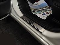 Накладки на пороги Fiat 500 L (2013+)