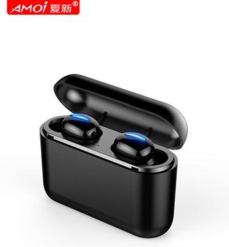 Наушники беспроводные Amoi HBQ Q32 Bluetooth 5,0 гарнитура с микрофоном 2600mAh