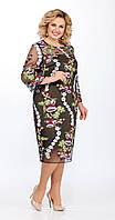 Платье La Kona-969/3 белорусский трикотаж, хаки, 54