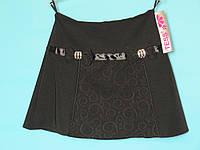 Школьная юбка Tess с 2 бантами и декоративной вставкой по центру