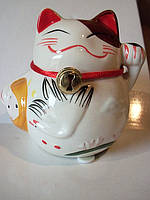 Статуэтка-копилка Счастливый кот Манеки Неко, фото 1