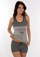 Женская летняя пижама / костюм для дома майка с котиком+шорты Onurel 770