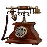 Стационарный деревяный gsm телефон sertec D1, фото 6