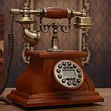 Стационарный деревяный gsm телефон sertec D1, фото 5