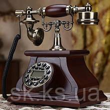 Стационарный деревяный gsm телефон sertec D1