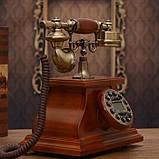 Стационарный деревяный gsm телефон sertec D1, фото 4