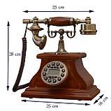 Стационарный деревяный gsm телефон sertec D1, фото 2