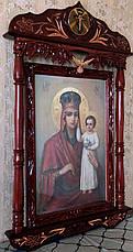 """Икона Божией Матери в киоте """" Призри на смирение """" большая, фото 3"""
