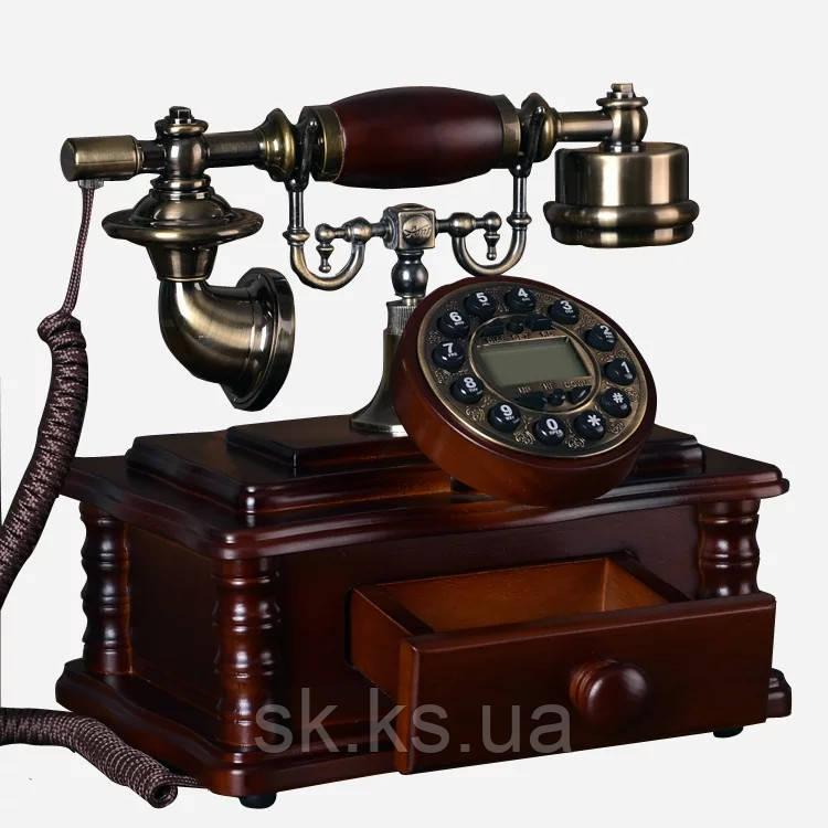 Стационарный деревяный gsm телефон sertec D2