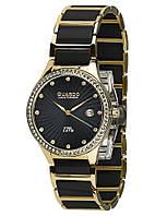 Часы женские Guardo S0578-4 черно-золотые