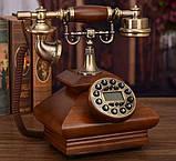 Стаціонарний дерев'яний gsm телефон sertec D3, фото 6