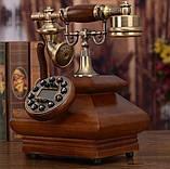 Стаціонарний дерев'яний gsm телефон sertec D3, фото 5