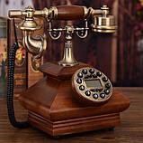 Стаціонарний дерев'яний gsm телефон sertec D3, фото 4