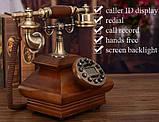 Стаціонарний дерев'яний gsm телефон sertec D3, фото 2