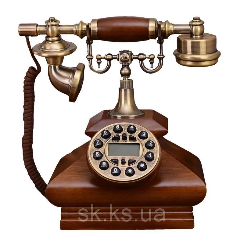 Стаціонарний дерев'яний gsm телефон sertec D3
