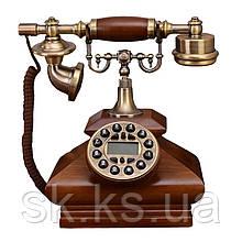 Стационарный деревяный gsm телефон sertec D3