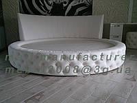 Круглая двуспальная кровать с круглым матрасом изготовление под заказ