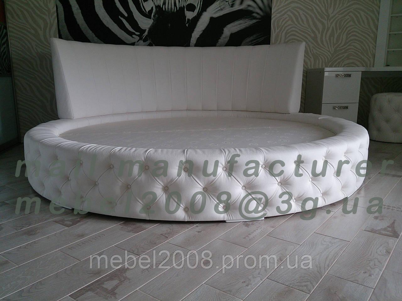 Двуспальные кровати с круглым матрасом где купить матрас 130 на 80
