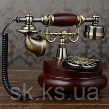 Стационарный деревяный gsm телефон sertec D4