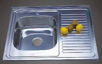Мойка кухонная Platinum 8060 L/R_0,8 mm (сатин) накладная