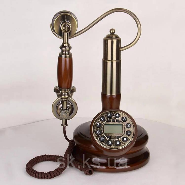 Стационарный деревяный gsm телефон sertec D6