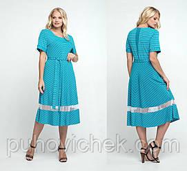 Модное трикотажное платье женское лето